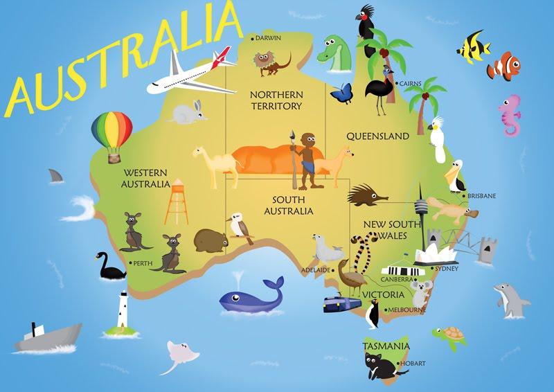 Cesta okolo sveta Austrália, svet dole hlavou