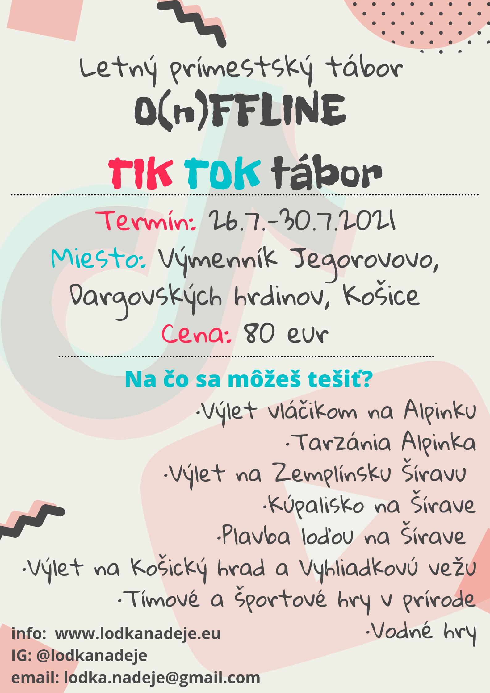 🎬O(n)FFLINE TIK TOK tábor🎥