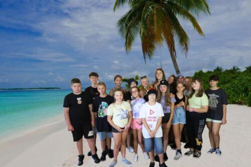 Sima – ružový team – Maledivy